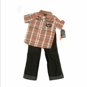 2t Boys Harley Davidson Outfit NWT
